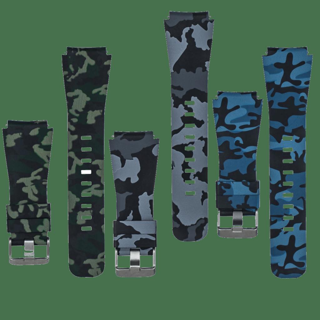רצועת סיליקון 22 מילימטר - דוגמת הסוואה - Silicon 22mm Watch band - Camouflage pattern